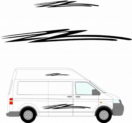 (No.157) MOTORHOME GRAPHICS STICKERS DECALS CAMPER VAN CARAVAN UNIVERSAL FITTING